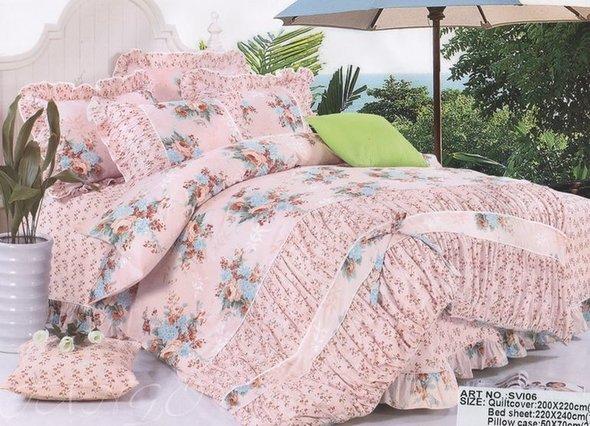 Комплект постельного белья Tango ПРОВАНС 993 хлопковый сатин 1,5 спальный, фото, фотография