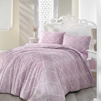 Комплект постельного белья Altinbasak LAMINA хлопковый ранфорс (грязно-розовый)