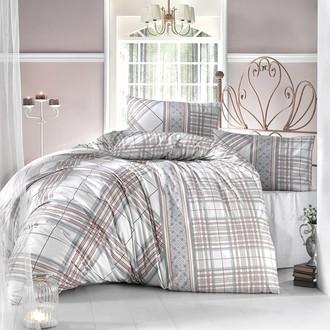 Комплект постельного белья Altinbasak VIOLA ранфорс хлопок коричневый