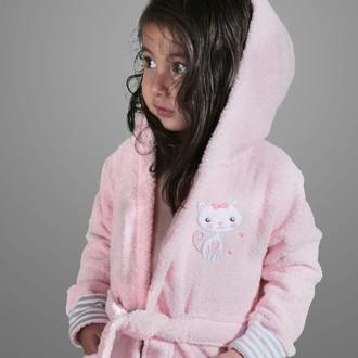 Халат детский Karna TEENY хлопковая махра розовый