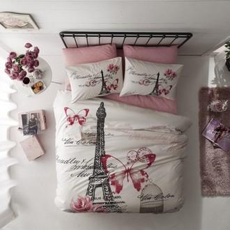 Комплект постельного белья TAC RANFORCE GISELLE хлопковый ранфорс (розовый)