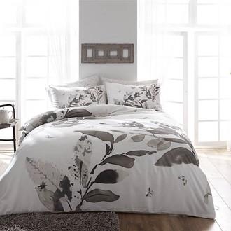 Комплект постельного белья TAC SATIN HARVEY хлопковый сатин (серый)