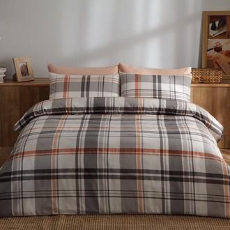 Комплект постельного белья TAC SATIN BRAND хлопковый сатин (оранжевый)