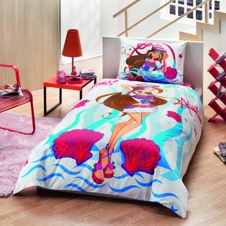Комплект детского постельного белья TAC WINX FLORA OCEAN хлопковый ранфорс