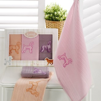 Набор кухонных полотенец Karna BRODY хлопковая вафля (V4)
