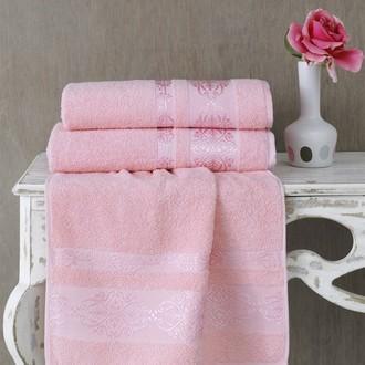 Полотенце для ванной Karna REBEKA махра хлопок (светло-розовый)