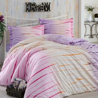 Комплект постельного белья Hobby Home Collection BATIK KIRIK хлопковый сатин (лиловый)