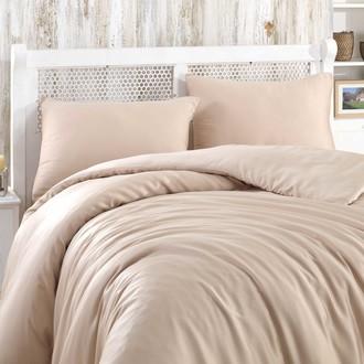 Комплект постельного белья Hobby Home Collection SHINE бамбуковый сатин (бежевый)