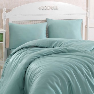 Комплект постельного белья Hobby Home Collection SHINE бамбуковый сатин (зелёный)