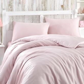 Комплект постельного белья Hobby Home Collection SHINE бамбуковый сатин (светло-розовый)