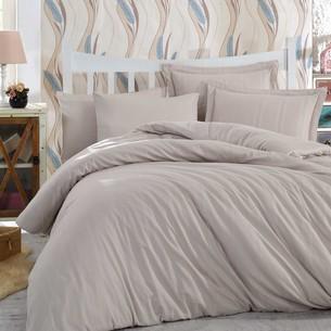 Постельное белье Hobby Home Collection STRIPE хлопковый жаккард визон 1,5 спальный