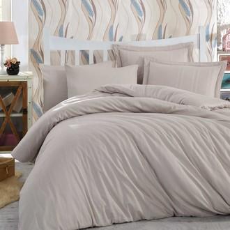 Комплект постельного белья Hobby Home Collection STRIPE хлопковый сатин-жаккард (визон)