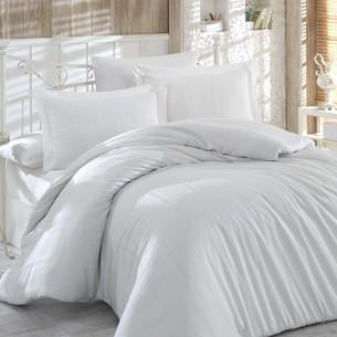 Постельное белье Hobby Home Collection STRIPE хлопковый жаккард кремовый 1,5 спальный
