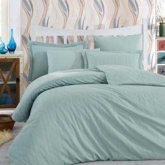 Комплект постельного белья Hobby Home Collection STRIPE хлопковый сатин-жаккард (минт)