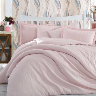 Комплект постельного белья Hobby Home Collection STRIPE хлопковый сатин-жаккард (нежно-розовый)