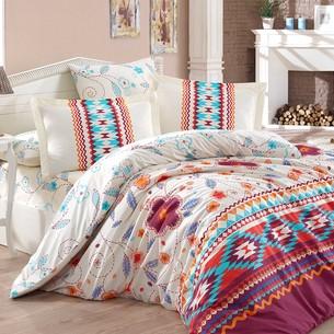 Постельное белье Hobby Home Collection FRANCESCA хлопковый поплин бордовый 1,5 спальный