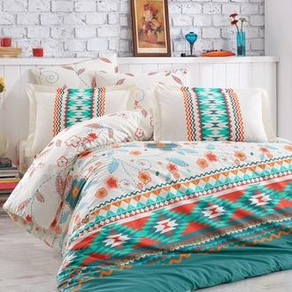 Комплект постельного белья Hobby Home Collection FRANCESCA хлопковый поплин (зелёный)