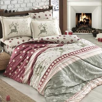 Комплект постельного белья Hobby Home Collection LUDOVICA хлопковый поплин (бордовый)