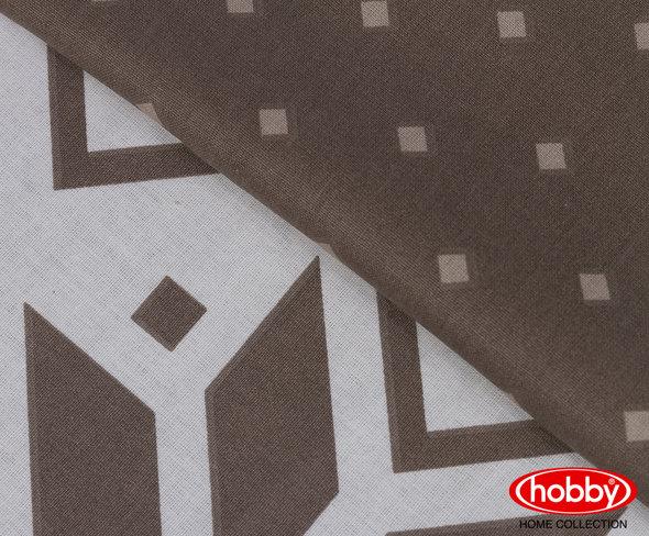 Постельное белье Hobby Home Collection CARLA хлопковый поплин (коричневый) евро, фото, фотография