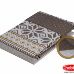 Постельное белье Hobby Home Collection CARLA хлопковый поплин коричневый евро, фото, фотография