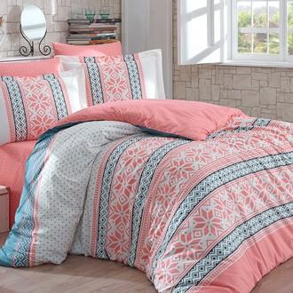 Комплект постельного белья Hobby Home Collection CARLA хлопковый поплин (персиковый)