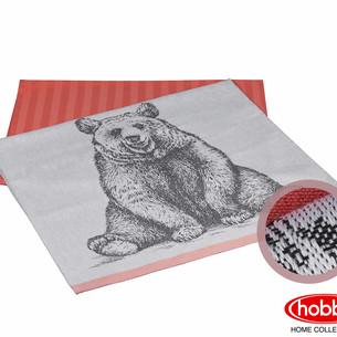 Набор кухонных полотенец Hobby Home Collection PRINT хлопок bear персиковый 50х70 2 шт.