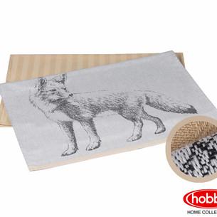 Набор кухонных полотенец Hobby Home Collection PRINT хлопок fox, бежевый 50х70 2 шт.