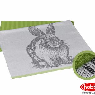 Набор кухонных полотенец Hobby Home Collection PRINT хлопок rabbit, зелёный 50х70 2 шт.