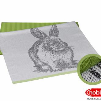 Набор кухонных полотенец Hobby Home Collection PRINT хлопок (rabbit, зелёный)