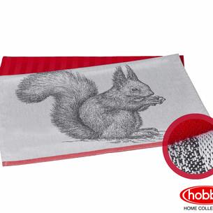 Набор кухонных полотенец Hobby Home Collection PRINT хлопок squirrel, коралловый 50х70 2 шт.