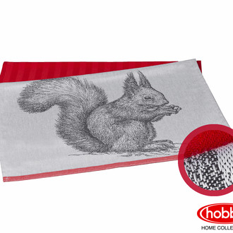Набор кухонных полотенец Hobby Home Collection PRINT хлопок (squirrel, коралловый)