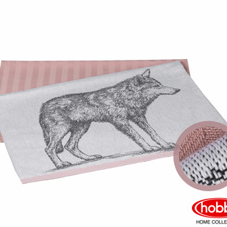 Набор кухонных полотенец Hobby Home Collection PRINT хлопок wolf, лиловый 50х70 2 шт.