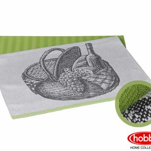 Набор кухонных полотенец Hobby Home Collection PRINT хлопок france, зелёный 50х70 2 шт.