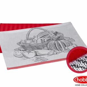 Набор кухонных полотенец Hobby Home Collection PRINT хлопок harvest, коралловый 50х70 2 шт.