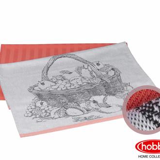 Набор кухонных полотенец Hobby Home Collection PRINT хлопок summer, персиковый
