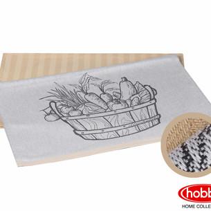 Набор кухонных полотенец Hobby Home Collection PRINT хлопок vegetables, бежевый 50х70 2 шт.