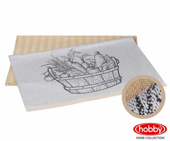Набор кухонных полотенец Hobby Home Collection PRINT хлопок (vegetables, бежевый) 50*70(2), фото, фотография
