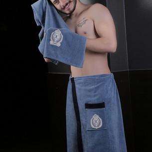 Набор для сауны мужской Karna KORAL хлопковая махра саксен