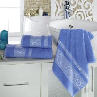 Полотенце для ванной Karna ELZA хлопковая махра (голубой)