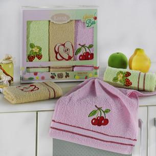 Подарочный набор кухонных полотенец Karna RUDDY хлопковая махра