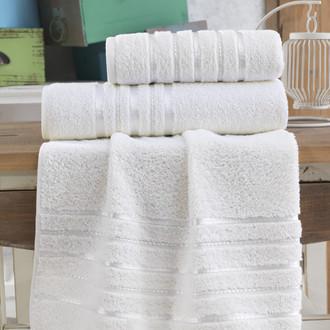 Полотенце для ванной Karna JASMIN хлопковая махра (кремовый)