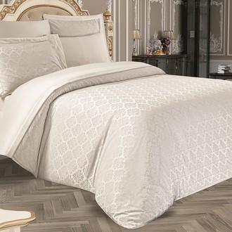 Комплект постельного белья Karna MARIDA бамбуковый сатин-жаккард (кремовый)
