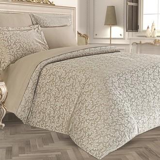 Комплект постельного белья Karna SEVILLA бамбуковый сатин-жаккард (капучино)