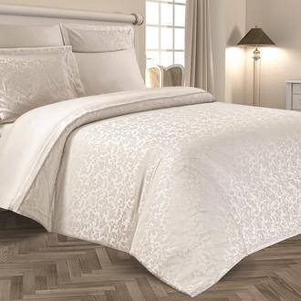 Комплект постельного белья Karna SEVILLA бамбуковый сатин-жаккард (кремовый)