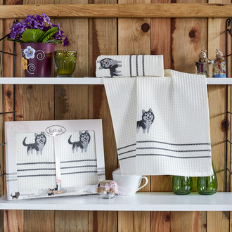 Набор кухонных полотенец Karna MAX хлопковая вафля (V3)