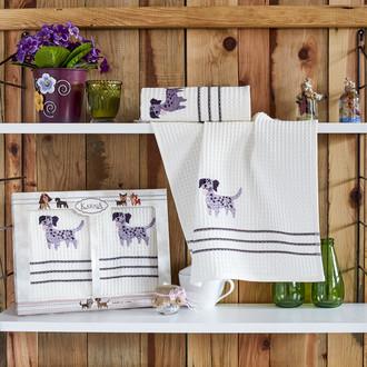 Набор кухонных полотенец Karna MAX хлопковая вафля (V4)