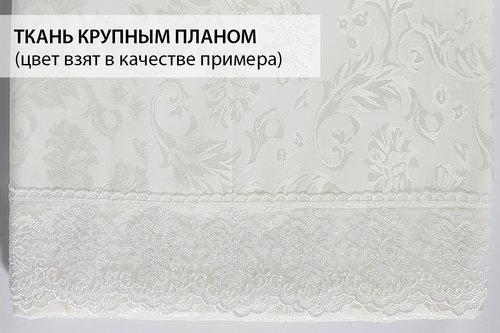Скатерть прямоугольная Karna LEDA жаккард белый 160х300, фото, фотография