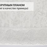 Скатерть овальная Karna LEDA жаккард бордовый 160х220, фото, фотография