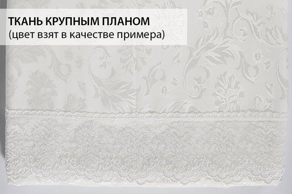 Скатерть овальная Karna LEDA жаккард бордовый 160*220, фото, фотография