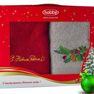 Набор полотенце Hobby Home Collection НОВЫЙ ГОД хлопковая махра (V9)